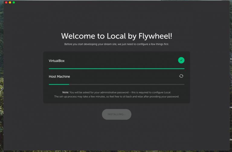 installing local by flywheel